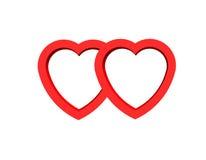 Tarjeta del día de San Valentín del corazón para el día feliz Fotografía de archivo libre de regalías