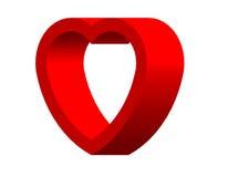 Tarjeta del día de San Valentín del corazón para el día feliz Foto de archivo libre de regalías