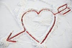Tarjeta del día de San Valentín del corazón para el día feliz Imágenes de archivo libres de regalías