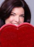 Tarjeta del día de San Valentín del misterio fotografía de archivo libre de regalías