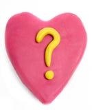Tarjeta del día de San Valentín del Plasticine fotografía de archivo libre de regalías