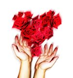 Tarjeta del día de San Valentín del santo Imagen de archivo libre de regalías