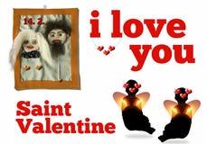 Tarjeta del día de San Valentín del santo Fotografía de archivo libre de regalías