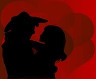 Tarjeta del día de San Valentín del vaquero Imágenes de archivo libres de regalías