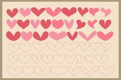 Tarjeta del día de San Valentín Dingbats Foto de archivo libre de regalías