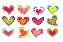 Tarjeta del día de San Valentín Dingbats Imagen de archivo libre de regalías