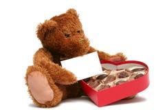 Tarjeta del día de San Valentín dulce Foto de archivo