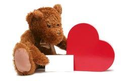 Tarjeta del día de San Valentín dulce Fotos de archivo libres de regalías