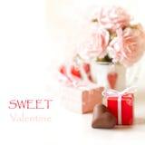 Tarjeta del día de San Valentín dulce. Fotos de archivo
