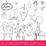 Tarjeta del día de San Valentín \ \ \ 'elementos del día de s Foto de archivo libre de regalías