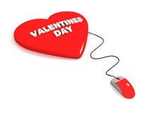 Tarjeta del día de San Valentín en línea Foto de archivo