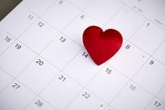 Tarjeta del día de San Valentín día 14 de febrero Imágenes de archivo libres de regalías