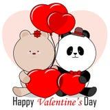 Tarjeta del día de San Valentín feliz 's2 ilustración del vector