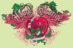 Tarjeta del día de San Valentín feliz Fotos de archivo