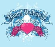 Tarjeta del día de San Valentín feliz ilustración del vector