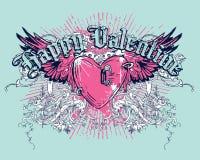 Tarjeta del día de San Valentín feliz stock de ilustración