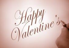 Tarjeta del día de San Valentín feliz de Callligraphy Fotografía de archivo libre de regalías