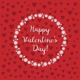 Tarjeta del día de San Valentín feliz de la postal Foto de archivo libre de regalías