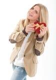 Tarjeta del día de San Valentín feliz para la chica joven Fotos de archivo libres de regalías