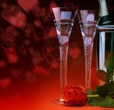 Tarjeta del día de San Valentín feliz sexual de la tarjeta de felicitación del arte foto de archivo libre de regalías
