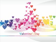 Tarjeta del día de San Valentín \ 'fondo coloridos del día de s Fotos de archivo libres de regalías