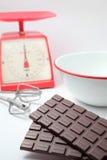 Tarjeta del día de San Valentín hecha a mano del chocolate que cocina imagen Fotografía de archivo