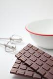 Tarjeta del día de San Valentín hecha a mano del chocolate que cocina imagen Fotos de archivo