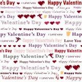Tarjeta del día de San Valentín inconsútil Foto de archivo libre de regalías
