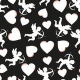 Tarjeta del día de San Valentín inconsútil del modelo Ilustración del vector Fotos de archivo