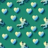 Tarjeta del día de San Valentín inconsútil del modelo Ilustración del vector Fotografía de archivo libre de regalías