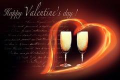 Tarjeta del día de San Valentín lírico Imágenes de archivo libres de regalías