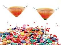 Tarjeta del día de San Valentín Martini Fotos de archivo libres de regalías