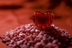 Tarjeta del día de San Valentín - montaña del amor Fotos de archivo libres de regalías