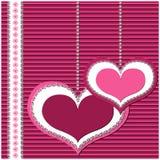 Tarjeta del día de San Valentín o invitación, tarjeta de felicitación Fotos de archivo libres de regalías