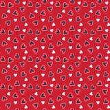 Tarjeta del día de San Valentín pattern1 inconsútil Imagen de archivo libre de regalías