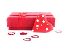 Tarjeta del día de San Valentín presente fotografía de archivo