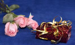 Tarjeta del día de San Valentín presente Foto de archivo