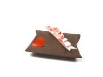 Tarjeta del día de San Valentín presente Fotografía de archivo libre de regalías