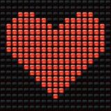 Tarjeta del día de San Valentín punteada Fotografía de archivo libre de regalías