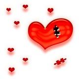 Tarjeta del día de San Valentín que le falta corazón Fotografía de archivo libre de regalías