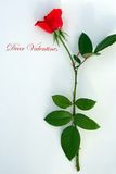 Tarjeta del día de San Valentín querida Foto de archivo