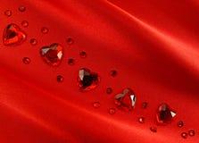 Tarjeta del día de San Valentín roja Fotografía de archivo libre de regalías