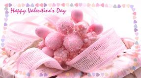 Tarjeta del día de San Valentín rosada Fotos de archivo libres de regalías