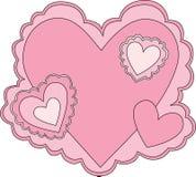 Tarjeta del día de San Valentín rosada Fotografía de archivo libre de regalías