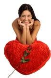Tarjeta del día de San Valentín Rose Fotos de archivo libres de regalías