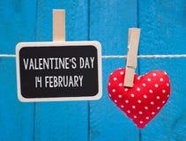 Tarjeta del día de San Valentín ` s día 14 de febrero Imagen de archivo