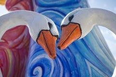 Tarjeta del día de San Valentín del St los gansos Imagenes de archivo