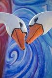 Tarjeta del día de San Valentín del St los gansos Imágenes de archivo libres de regalías