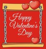 Tarjeta del día de San Valentín del tablero para la tarjeta de felicitación del amor imágenes de archivo libres de regalías