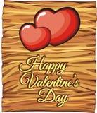 Tarjeta del día de San Valentín del tablero para la tarjeta de felicitación del amor imagen de archivo